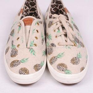 Keds Pineapple Leopard Cheetah Sneaker Women 10